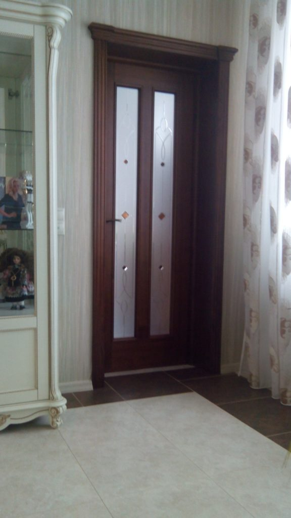 Дверь Клеодора амер. орех в интерьере