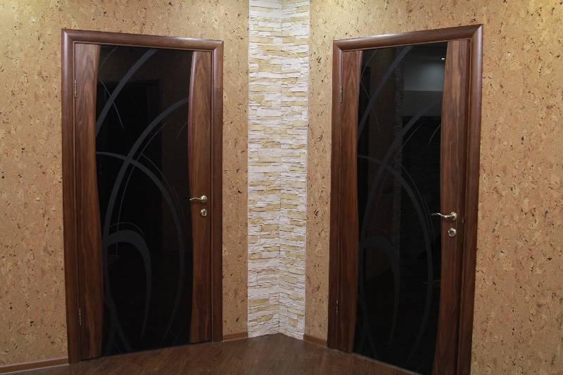 Дверь Лайма (шпон американского ореха) в интерьере